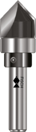 Bearing Guided V-Groove Cutters TCT / Two flutes