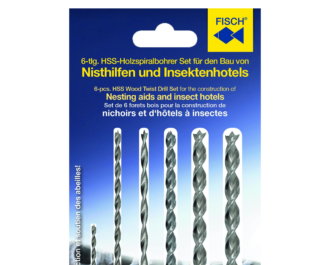 HSS-Wood Twist Drill Set for the construction of Nesting aids an insect hotels